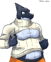 Open chest turtleneck by WolfieDrake