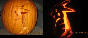 Pikachu Pumpkin by GaaraCreep3