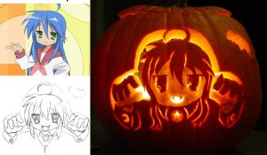 Lucky Star Vampire Konata by ProfCinderwood