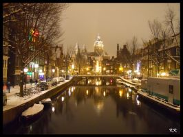 A winter night in Amsterdam by KAKAO85