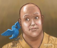 Varys and his little bird(s) by zenzmurfy