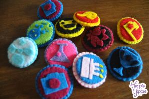 Foursquare badges by heppieyippie