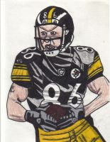 Hines Ward with football by Buhla