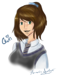 Birthday Sketch: Gwin by Miscellaneously-Kina