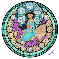 Stained Glass: Jasmine -Take 2- by Akili-Amethyst