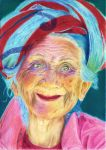 A joyful elder lady by Lola-in-the-Black