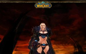 WOW-death knight lady Flowss by Rosalind-WT