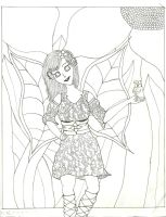 WIP - Flower Fairy (Inked) by ethereal-dancer