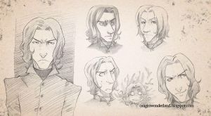 Severus Snape Sketch by karinaokada