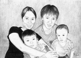 Hendi's Family Drawing by riefra