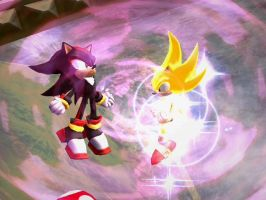 Super Sonic and Shadow 3 by ControlledChaosX