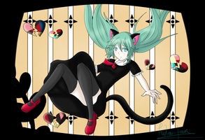 Hatsune Miku - Black Cat Girl by Fuka-chi