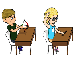 Hair Pulling Olicity by p0cketw0tch