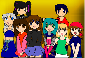 group picture by inugurly