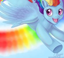 MLP FiM - Sonic Rainboom by LaurenMagpie