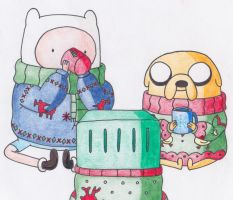 Adventure Time Christmas by sophiemai
