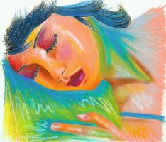 Woman Sleeping - version 2 by sompy