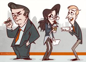 30 Rock Cartoon by l3xilos