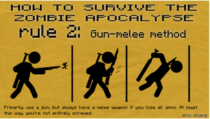 How to Survive the Zombie Apocalypse: rule 2 by Number9Robotic
