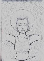 mujer afro by halleymurray