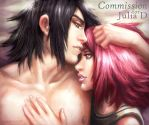 Sakura and Sasuke by hueco-mundo