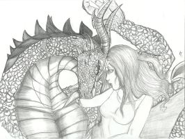 dragon and the maiden by CandiceShadow