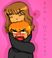 Hermione and Ron by missy509