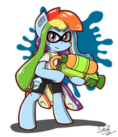 Inkling Rainbow Dash by sheandog