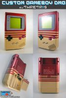 Custom Gameboy Gold Stripe by Thretris