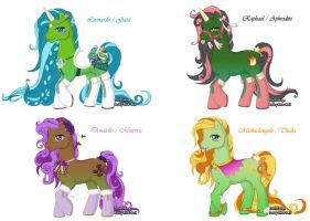 my little TMNT ponies by Dr-Innocentchild