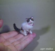 Calico Cat Handmade in miniature 1:12 scale by AGZR-STUDIOS