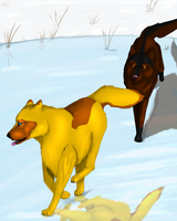 Winter Chase *update* by CaledonCat