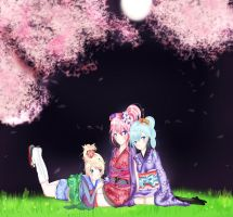 Night of the Cherry Blossoms by keyaramuri