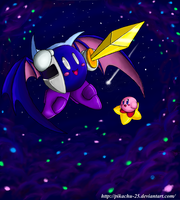 Meta Knight and Kirby - Beauty Wing by pikachu-25