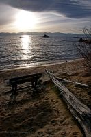 Cove Bench Sunset by Allen59