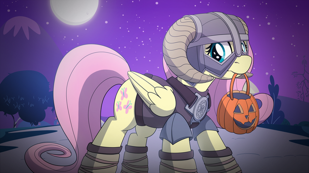 Happy Nightmare Night from Fluttershy! by artwork-tee