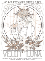 O Fortuna Lineart by hazel-thorn