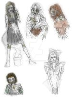 zombie sketchdump by MikachuAttack