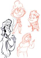 Doodle sketch page by tombancroft