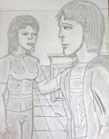 New OC pair: Terry and Janelle by guelpacq