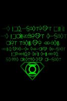 Green Lantern Oath Background - Kryptonian writing by KalEl7