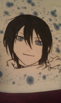 Noragami - Yato Closeup by moonthewolfpriestess