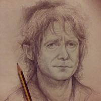 Bilbo Baggins Sketch by JuliaFox90