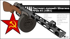PPSh-41 Vector by 171Scorpia