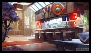 the sushi restaurant artwork sly 4 by FCC93