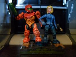 Zero Mission and Zero Suit Samus by The-Great-Geraldo