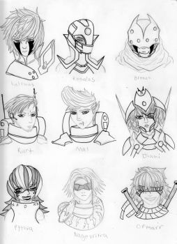 Roster 2 by Jade-Dragoon136