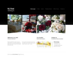 Florist web design by bisek0