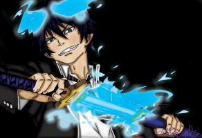 The Blue Exorcist by brittacurls