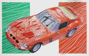 Ferrari GTO by johnwickart